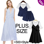 【25 May Update】600+ Styles 80% Off !Crazy Promotion! 2017 Plus Size Dresses Tops Blouses