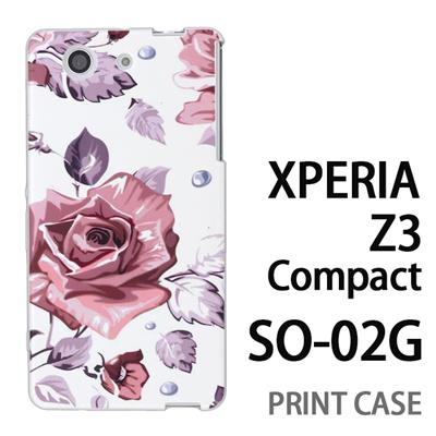 XPERIA Z3 Compact SO-02G 用『0618 昼のピンクバラ』特殊印刷ケース【 xperia z3 compact so-02g so02g SO02G xperiaz3 エクスペリア エクスペリアz3 コンパクト docomo ケース プリント カバー スマホケース スマホカバー】の画像