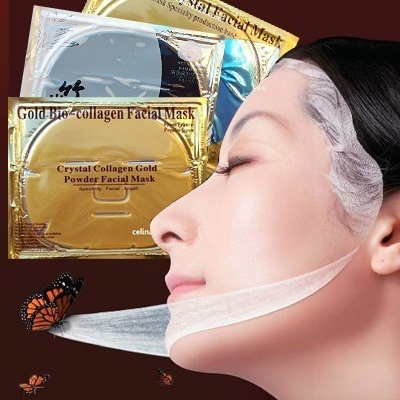 Masker Topeng GOLD 24K | Crystal Collagen | Limited! Fast Delivery | Recommended 19 Face mask Collagen Facial Mask | Whitening/Anti-Wrinkle | Emas + ...