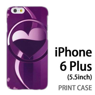 iPhone6 Plus (5.5インチ) 用『No3 サークルハート紫』特殊印刷ケース【 iphone6 plus iphone アイフォン アイフォン6 プラス au docomo softbank Apple ケース プリント カバー スマホケース スマホカバー 】の画像