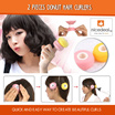 2 Pieces Donut Hair Curlers