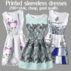 【$9.9 only FLAT PRICE 】Summer sweet vintage printed sleeveless dresses