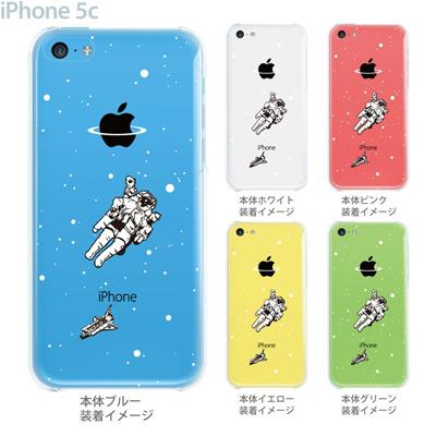 【iPhone5c】【iPhone5c ケース】【iPhone5c カバー】【ケース】【クリア カバー】【スマホケース】【クリアケース】【イラスト】【クリアーアーツ】【宇宙・アストロノーツ】 08-ip5c-ca0101の画像