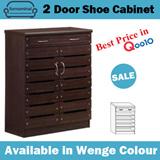 SALE! Furnominal.SR2+1 2 Door Shoes Cabinet / Wenge Colour