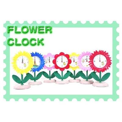 フラワークロック アラーム付き置時計の画像