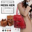 【FREE QXPRESS】★Buckle Bag  3 in 1 Bag Backpack Bag ShoulderBag etc. Tote bag Lady bag  LB-CF11