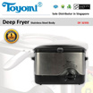 TOYOMI Deep Fryer with Stainless Steel Body [Model: DF 323SS] - Official TOYOMI Warranty Set.