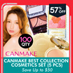 CANMAKE Best Collection Cosmetics Set (5 PCS) 2016 New Packaging! Best sellers Super value set!