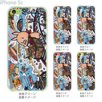 【SWEET ROCK TOWN】【iPhone5c】【iPhone5cケース】【カバー】【スマホケース】【クリアケース】【Clear Arts】【アート】 46-ip5c-sh0015の画像