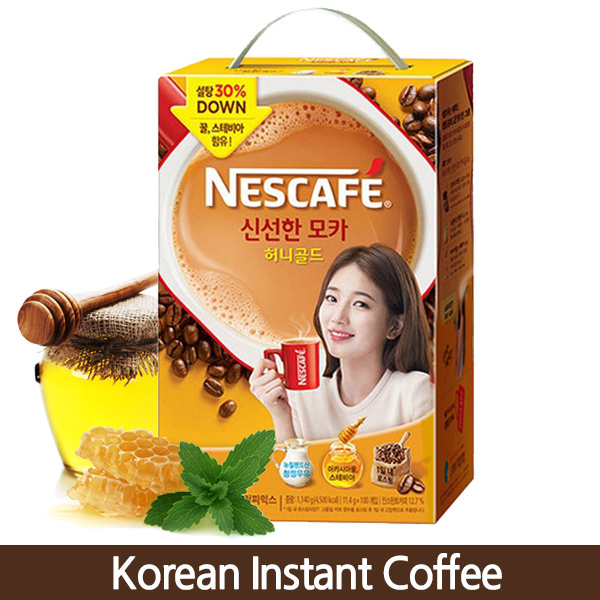Buy Korean Instant Coffee Mix Nescafe Fresh Mocha Honey Gold 100 sticks Deals for only S$45 instead of S$45