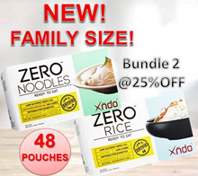 [BUNDLE OF 2] FAMILY PACK SIZE ZERO Rice And Noodle
