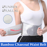 Bamboo Charcoal Waist Belt / Tightness Adjustable / Back Pain Solutions /  Sport Support Wear / Tummy Shaper/ Slimming Belt