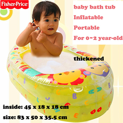 qoo10 fisher price baby bath inflatable tub environmental friendly thick baby maternity. Black Bedroom Furniture Sets. Home Design Ideas