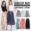 ❤May. 22th UPDATE❤Double Layer Chiffon Long/Maxi Candy Colour/Chiffon/Linen Skirt BUY 2 FREE SHIPPIN