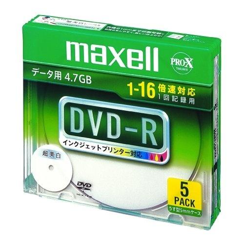 【クリックでお店のこの商品のページへ】マクセル DVD-R/4.7GB 【5枚入】 DR47WPD.S1P5S A 00072224