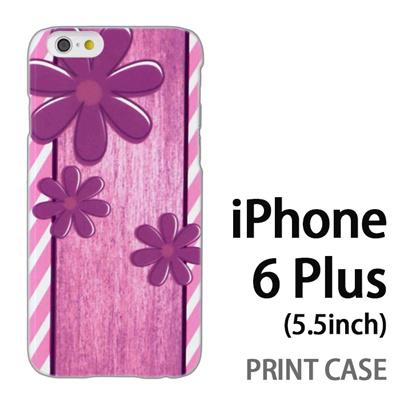 iPhone6 Plus (5.5インチ) 用『No3 スリーフラワーズ』特殊印刷ケース【 iphone6 plus iphone アイフォン アイフォン6 プラス au docomo softbank Apple ケース プリント カバー スマホケース スマホカバー 】の画像