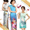FREE SHIPPING 2017 CNY Traditional Premium Lowest Price Cheongsam / Qipao / Oriental Dress / Long Short Length with various design color size  buy two free shipping cheapest in singapore