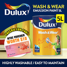 [BTO Special]Dulux Paint Wash and Wear Emulsion Paint 5L for Interior Walls-Highly washable