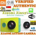 ★XIAOYI ACTION CAMERA★ Xiaomi Gopro Sport Video WiFi 16MP 1080P 60FPS A7LS 155 Degree Wide Lens Bluetooth 40M Diving Sports DV - IP CCTV Home Spycam Webcam Cover Cap Battery