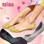 MELISSA CAMPANA ZIG ZAG II AD Ladies Flat Shoes Pumps ★Direct from Japan