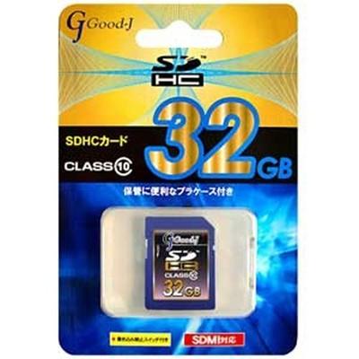 【メールDM便送料無料】GOOD-J32GBSDHCカードclass10G-SDHC32-C10