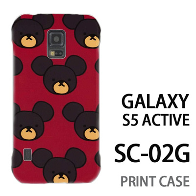GALAXY S5 Active SC-02G 用『0903 熊さんドット 赤』特殊印刷ケース【 galaxy s5 active SC-02G sc02g SC02G galaxys5 ギャラクシー ギャラクシーs5 アクティブ docomo ケース プリント カバー スマホケース スマホカバー】の画像