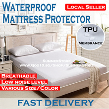 [Local Seller] Waterproof  Mattress Protector / Fitted Bedsheet / Anti Bacterial / Machine Washable