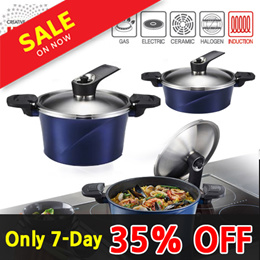 [$8Coupon/Make $71] Happycall Genuine/ ★35 OFF★ IH Alumite Ceramic Vacuum pot / Can be used in induc
