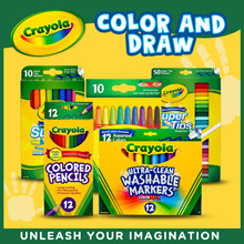 Crayola Super Tips Washable Markers (10 / 20 / 50 count)