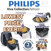 ★ FREE BAKING TRAY + FREE GRILL PAN + FREE COOKBOOK Philips HD9220 Viva Collection Airfryer with Rapid Air Technology ★ (2 Years World-Wide Warranty)
