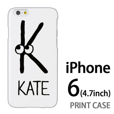 iPhone6 (4.7インチ) 用『0623 「K」』特殊印刷ケース【 iphone6 iphone アイフォン アイフォン6 au docomo softbank Apple ケース プリント カバー スマホケース スマホカバー 】の画像