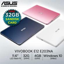 ASUS VivoBook E12 E203NA / lightweight 11.6-inch laptop /1 Years International warranty