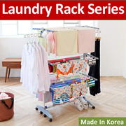 [BLMG_SG]MADE IN KOREA! Laundry Drying Rack/ Clothes Rack/ Hanger/ Rack/ Wheels/ Steel/ Foldable rac