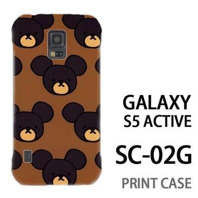 GALAXY S5 Active SC-02G 用『0903 熊さんドット 茶』特殊印刷ケース【 galaxy s5 active SC-02G sc02g SC02G galaxys5 ギャラクシー ギャラクシーs5 アクティブ docomo ケース プリント カバー スマホケース スマホカバー】の画像