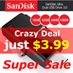 [Today Only $3.99] SanDisk Ultra dual 16GB/32GB/64GB/128GB USB 3.0 OTG Flash Drive with micro USB