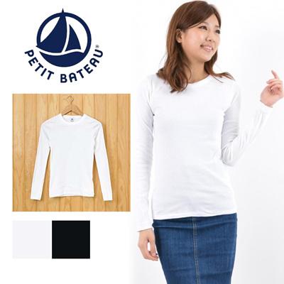 プチバトー PETIT BATEAU クルーネック 長袖 Tシャツ 35772の画像