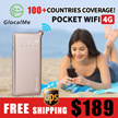 【Only 3qty!!!】GlocalMe U2 4G LTE Mobile Hotspot Global WiFi HighSpeed Free-Roaming Free 1GB data