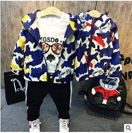 韓国ファション 男女兼用 子供服 アウター コート 防風ジャケット キッズ 男の子 かっこいい 迷彩柄 キッズ服!人気新作 トップス