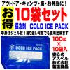 【激安】お得な10袋セット!(日本国内発送)【夏必見】【高品質】保冷剤 COLD ICE PACK