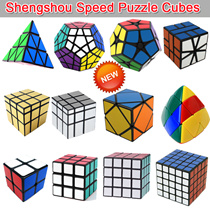New Brand Shengshou Children toys Magic Cube/2x2x2/3x3x3/4x4x4/5x5x5 Mirror Blocks/Dodecahedron Megaminx/Pyraminx/Cube Speed Puzzle Cubes Special Toys for Kids IQ Test Educational Christma