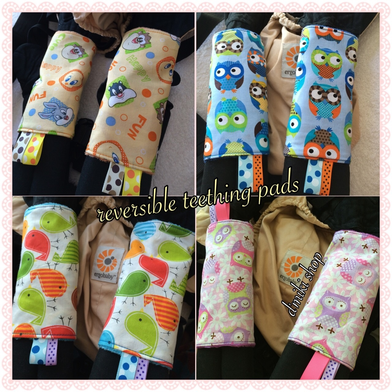 Baby crib for sale singapore - Dmiki Handmade Reversible Baby Carrier Teething Pads Teething Pad Drool Pads Tagged Baby Carrier