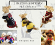Limited Edition Pet Clothes / Collar ◆Dog Clothes / apparel ◆ High Quality ◆ Unique stylish Handmade