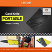 Card Knife Ultra-light  Ultra-thin Utility Knife That Fits Comfortably Into Your Wallet