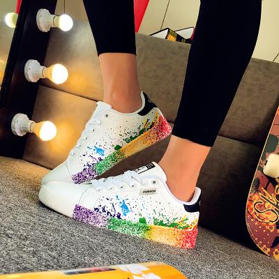 韓国ファッションスターEXO BIGBANG カップル ペアルック スニーカー  靴 シューズ ランニングシューズ キャンバス ハイカットスニーカー 白いスニーカー  厚底 スニーカー