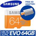 SAMSUNG EVO Micro SD / microSD 64GB Card / !!! Local Warranty !!!