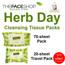 ★ The Face Shop ★  Herb Day Cleansing Tissue 70 / 20 sheet packs TheFaceShop faceshop Herbday