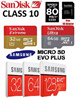 ★ 100% Authentic ★ Sandisk Ultra MicroSD Micro SD SDHC SHDXC Class 10 16GB / 32GB / 64GB / 128GB / 200GB Memory Card with Warranty for Samsung Xiaomi Sony HTC Asus Camera GPS GoPro 80MB/S 90MB/S
