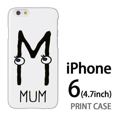 iPhone6 (4.7インチ) 用『0623 「M」』特殊印刷ケース【 iphone6 iphone アイフォン アイフォン6 au docomo softbank Apple ケース プリント カバー スマホケース スマホカバー 】の画像