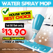 *Star Deal*Magic Water Spray Mop / Lazy Mop with Microfiber Cloth