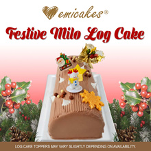 [Emicakes] Festive Milo Log Cake 800-850g
